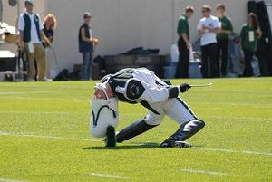 Michigan State University Spartan Marching Band - Drum Major Ian McNabb performing the traditional backbend during pregame