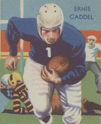 Ernie Caddel - 1935 National Chicle football card for Caddel