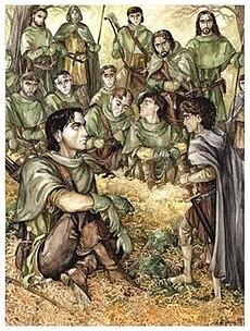 Anke Eißmann's portrayal of Faramir interrogating Frodo.