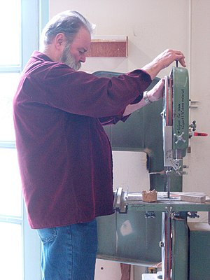 Garry Knox Bennett - Bennett working on a bandsaw.