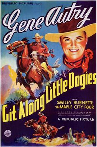 Git Along Little Dogies (film) - Image: Git Along Little Dogies Film Poster