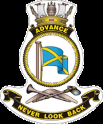 HMAS Advance (P 83) - Ship's badge