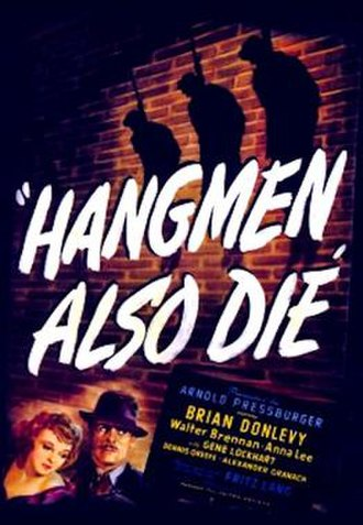 Hangmen Also Die! - 1943 Theatrical Poster