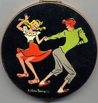 Teena - Vintage powder compact by Hilda Terry