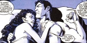 Wildcat (comics) - Wildcat and Hippolyta share an intimate moment. Art by Phil Jimenez.