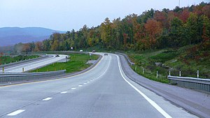 Interstate 99 - I-99 north near Bald Eagle, Pennsylvania in October 2011