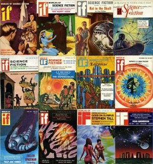 If (magazine) - Twelve issues of If, showing the major variations in cover design over the magazine's lifetime