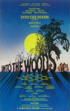 Into the Woods original Broadway poster (1987).
