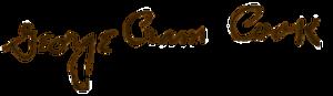 George Cram Cook - Image: Jigcooksig