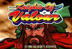 Knights of Valour - Title screen of Knights of Valour