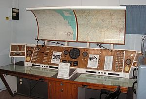 Longreach Airport - The Flight Service console, now located in a town museum