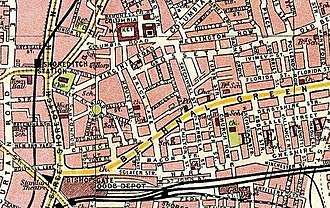 Boundary Estate - A 1908 map showing the completed estate