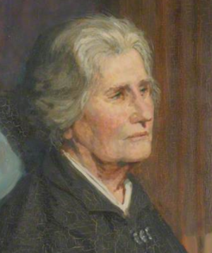 Mary Paley Marshall - crop from painting by AS or SA
