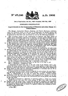 A traditionally-written document setting out patent laws