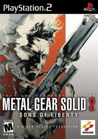 Metal Gear Solid 2: Sons of Liberty - North American cover art