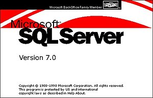 History of Microsoft SQL Server - SQL Server 7.0 Splash Screen