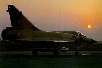 No. 7 Squadron IAF - A Mirage 2000 of the No. 7 Squadron.
