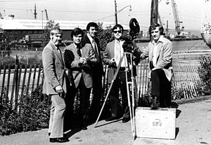 Montage (TV series) - Montage crew, left to right: Jon Boynton; Howard Schwartz; Dick Mrzena; Gary Robinson; Dennis Goulden.