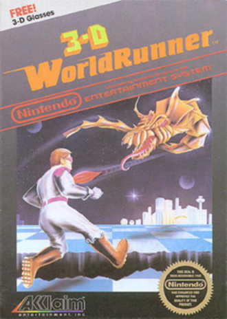 The 3-D Battles of WorldRunner - North American cover art