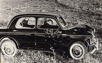 Michele Navarra - The bullet ridden Fiat of Navarra