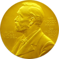 The Nobel Prize medallion.