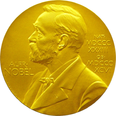 Front side (obverse) of the Nobel Prize Medal for Physics presented to Edward Victor Appleton in 1947 Nobel medal.png