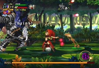 Odin Sphere - Image: Odin Sphere gameplay