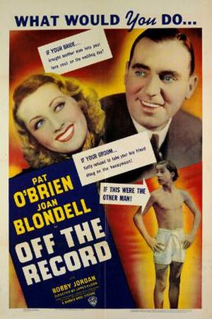 Off the Record (film) - Theatrical release poster