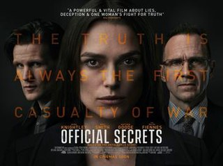 <i>Official Secrets</i> (film) 2019 film by Gavin Hood