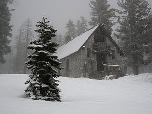 Ostrander Lake - Ostrander Ski Hut, March 2007