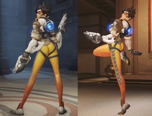 Tracer (Overwatch) - Image: Overwatch controversy