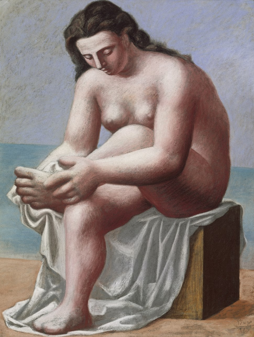 Pablo Picasso, 1921, Nu assis s'essuyant le pied (Seated Nude Drying her Foot), pastel, 66 x 50.8 cm, Berggruen Museum