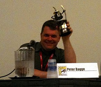 Peter Bagge - Peter Bagge receiving Inkwell Award at San Diego Comic-Con, July 24, 2010