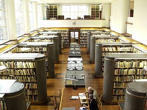Interior of the RIBA Library, 66 Portland Plac...
