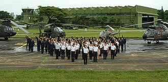 Sembawang Air Base - Image: RSAF SBAB helicopters & staffs