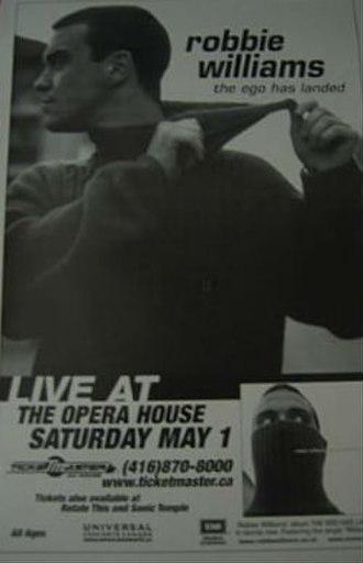1999 Tour (Robbie Williams) - Image: R Williams 1999Tour Poster