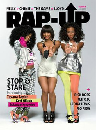 Rap-Up - The summer 2008 issue of Rap-Up—which featured Teyana Taylor, Keri Hilson and Solange Knowles on the cover—was redesigned to cater for the aging demographic.