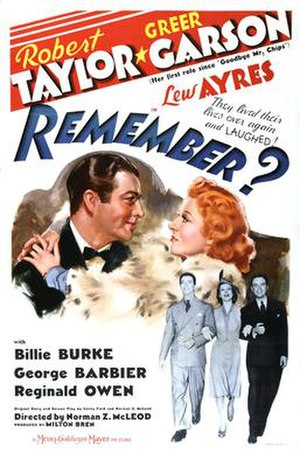 Remember? (1939 film) - Theatrical poster