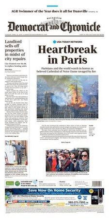 Rochester Democrat and Chronicle front page.jpg