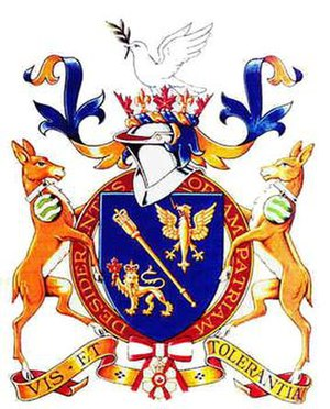 Women in heraldry - The arms of Jeanne Sauvé, former Governor General of Canada, displayed in a shield