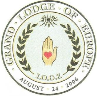 Independent Order of Odd Fellows - Seal of the IOOF Grand Lodge of Europe, chartered in 2006, instituted in June 2007 in Oslo, Norway.