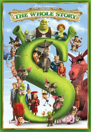 Shrek (franchise) - Cover art for Shrek: The Whole Story, which includes the first four Shrek films.