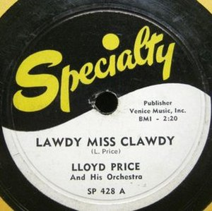 Lawdy Miss Clawdy - Image: Specialty price