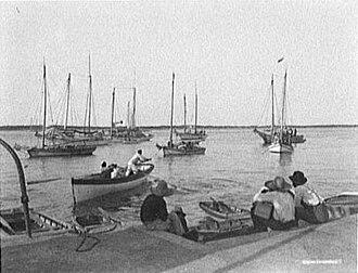 Sloop John B - Sloops off Nassau, Bahama Islands, c. 1900.