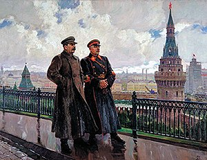 Aleksandr Gerasimov (painter) - Stalin and Voroshilov in the Kremlin (1938) is the painting for which Gerasimov won a Stalin Prize in 1941.