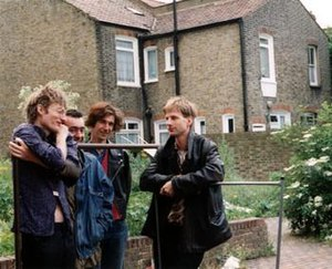 The Work (band) - From left to right: Tim Hodgkinson, Rick Wilson, Mick Hobbs, Bill Gilonis
