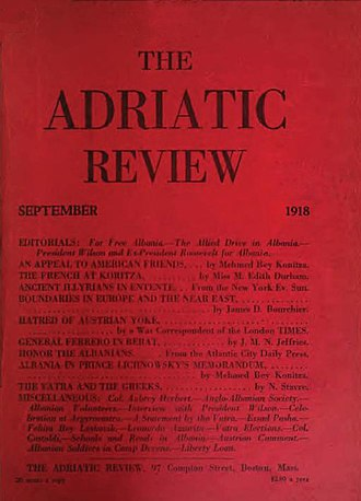The Adriatic Review - Image: The Adriatic Review cover sept 1918