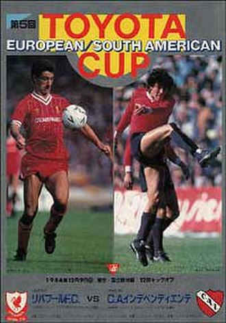 1984 Intercontinental Cup - Match programme cover