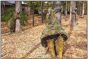 Wiktor Szostalo - The Tree Hugger Project, Installation in Wilkowice, Poland