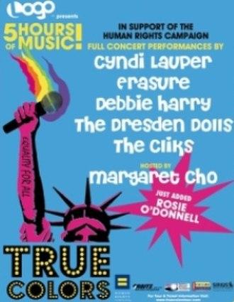 True Colors (concert tour) - Image: True Colors Event Poster